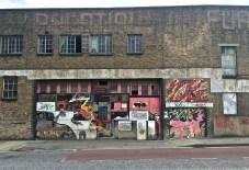 Layered graffiti.