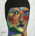 Square Portrait #2, 2016, acrylic on canvas, 30 x 30 cm