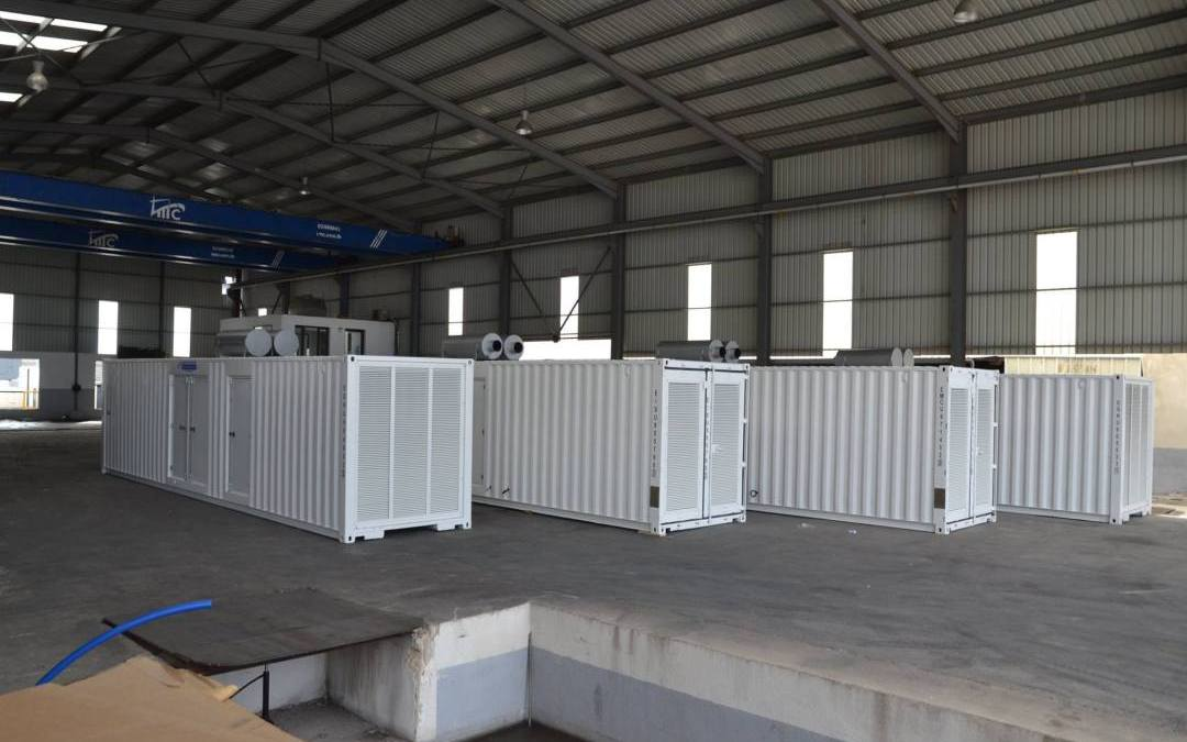 """4 x 1250 KVA Gensets inside 40"""" Containerized Canopies to Power the Sewerage Project at Al Jisr District in Baghdad"""
