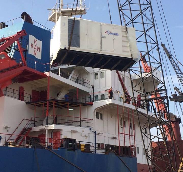 Standby Generator Powering MV Kan 1.