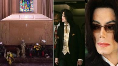 صورة نبش قبر مايكل جاكسون بعد إتهامه بإغتصاب 11 طفلا
