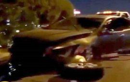 فيديو.. فنانة معروفة تنشر فيديو مباشر بعد تعرضها لحادث سير خطير