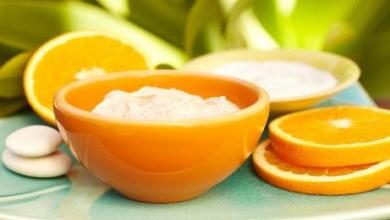 صورة ماسك للوجه بالبرتقال لتبييض الوجه
