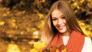 صورة طريقة العناية بالشعر في الخريف