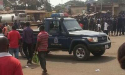 Sunyani West MP's Driver caught driving Police Vehicle