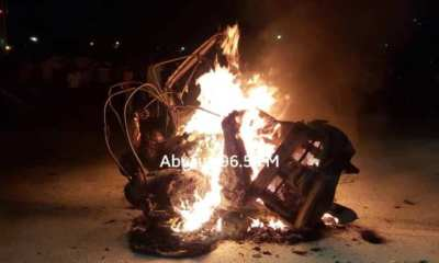 Notorious Bolgatanga Aarmed Robbers Yahya Lawrence and Abdul Hakeem Burnt Alive By Angry Youth In Ramadan