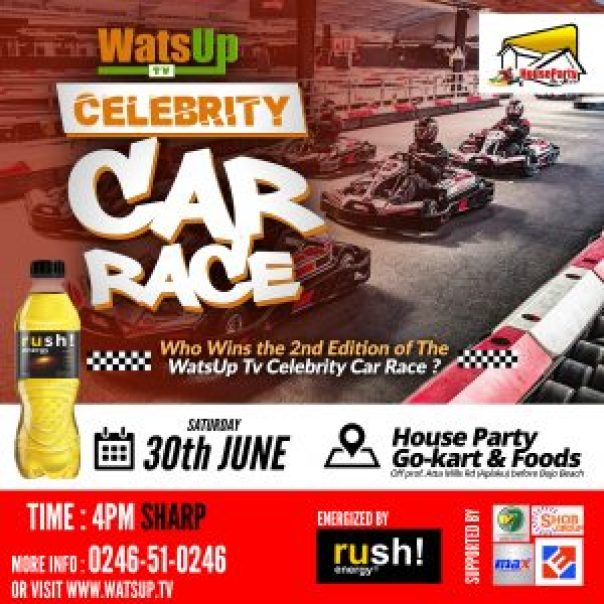 WatsUp TV to hold 2nd edition of Celebrity Car Race on June 30