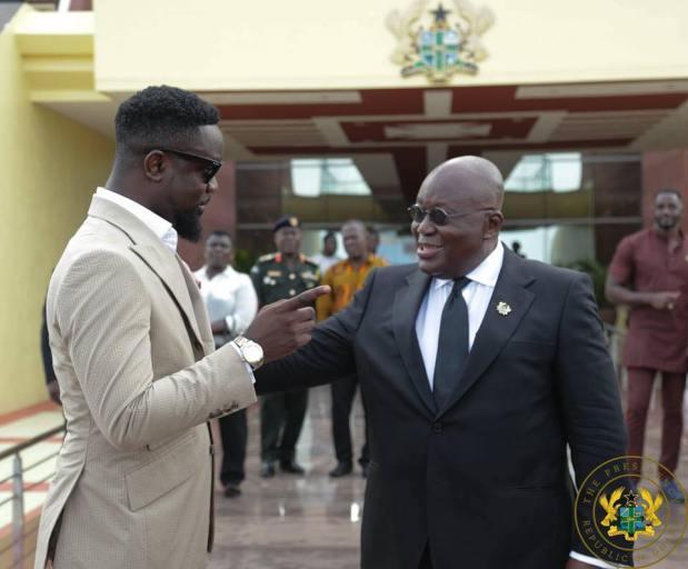 Sarkodie and Nana Akufo-Addo