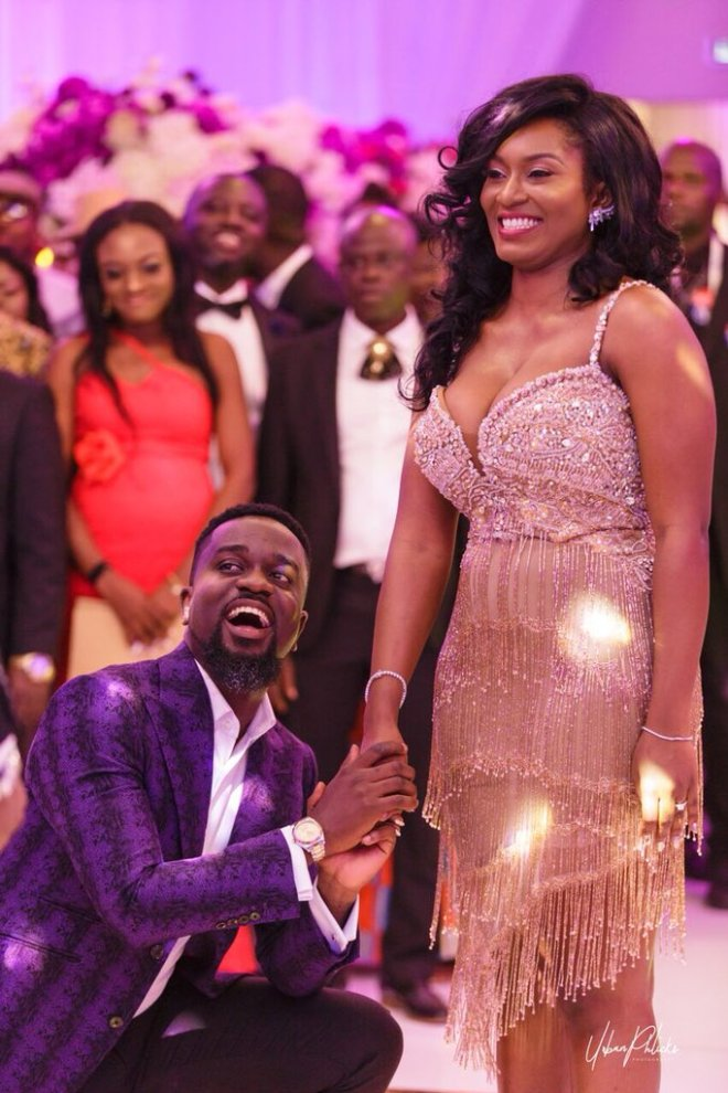 Sarkodie and Tracy at their wedding