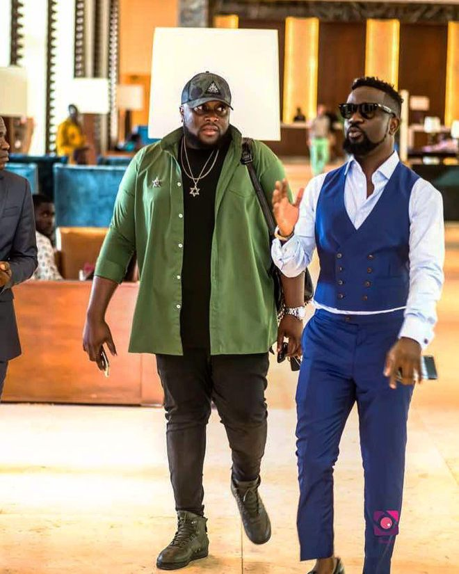 Sarkodie with manager