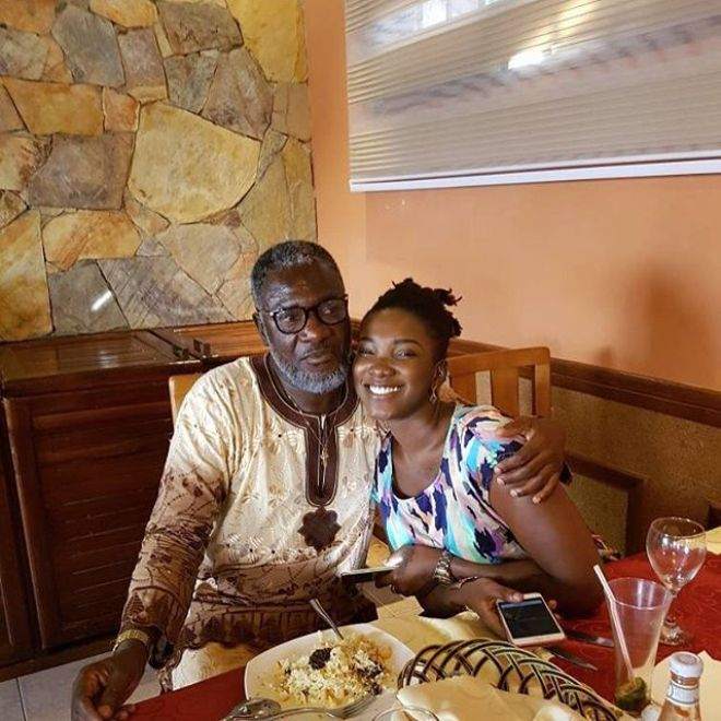 Late Ebony with dad