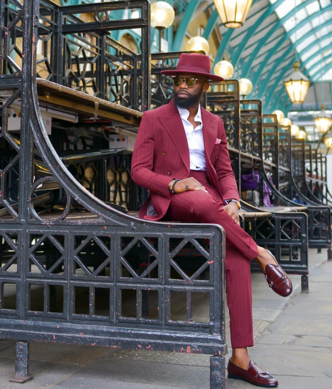Suit maker, Jigzy Baba serving perfect colour and styling