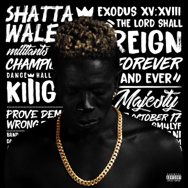 Official cover art for Shatta Wale's Reign album