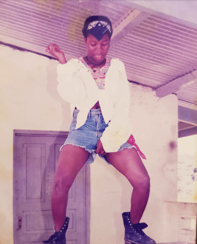 Throwback photo of Mzbel