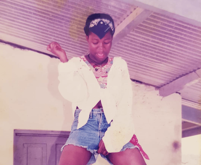 Mzbel throwback photo