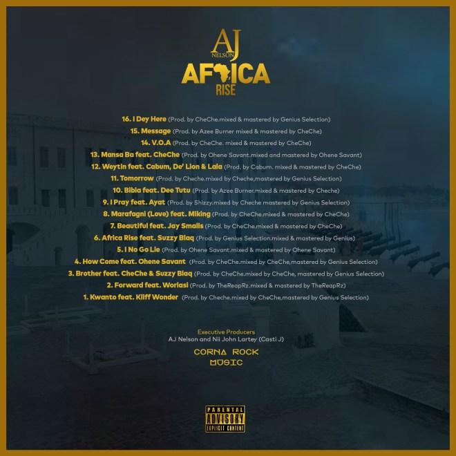Africa Rise album tracklist
