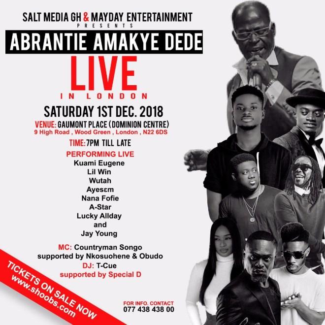 Amakye Dede Live in London