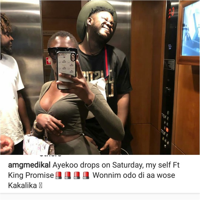 Medikal jabs Deborah Vanessa in Instagram post