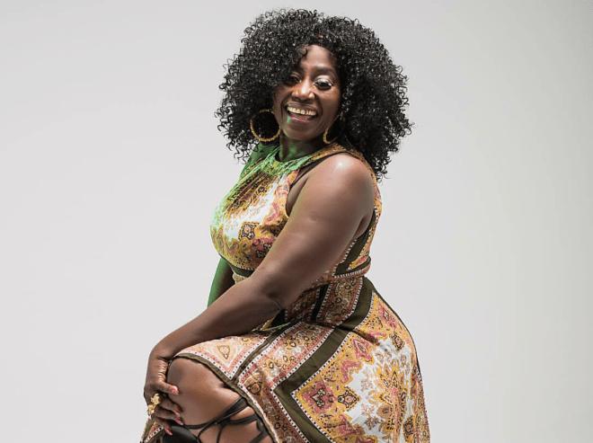 Akumaa Mama Zimbi rocking a new look without her signature headwrap