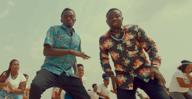 "Lil Win and Brother Sammy in ""Yesu"" music video"