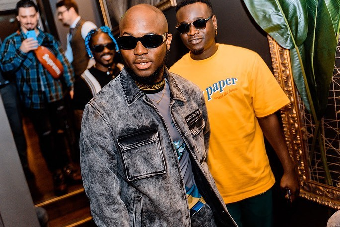 PHOTOS: King Promise drippin' in oversized denim jacket at