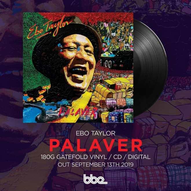 """Ebo Taylor's """"Palaver"""" album cover artwork"""