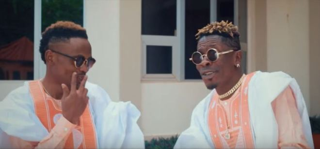 Maccasio and Shatta Wale in Make Am music video
