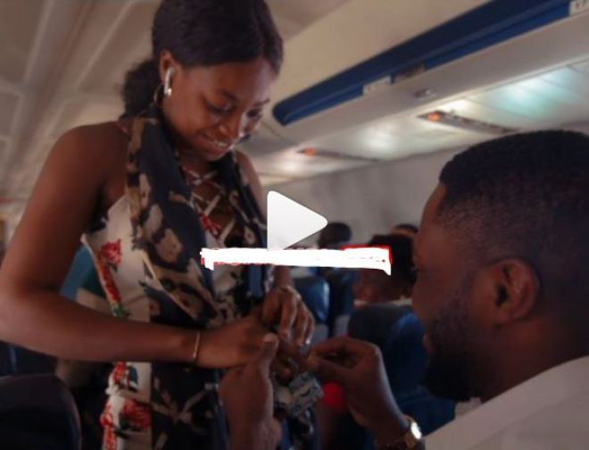 Dr Osei Kwame Despite's son Kennedy Osei proposes to his girlfriend on plane