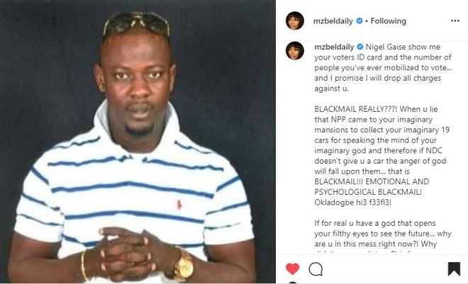 Mzbel opens more fire on Prophet Nigel Gaisie, claims she knows the source of his 'fake' prophecies