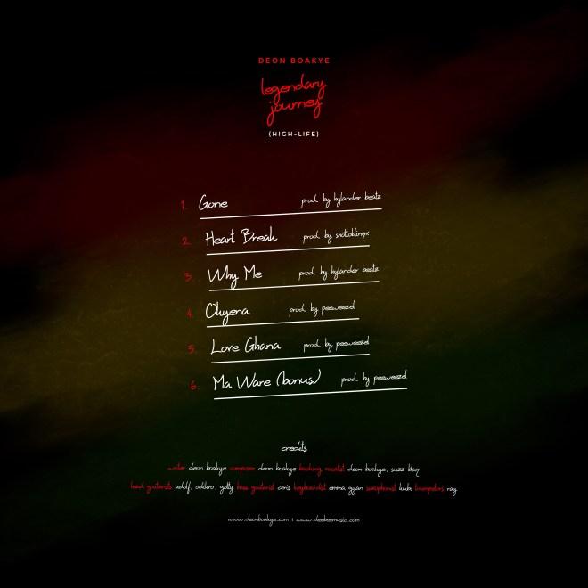 "Deon Boakye's ""Legendary Journey"" EP cover"