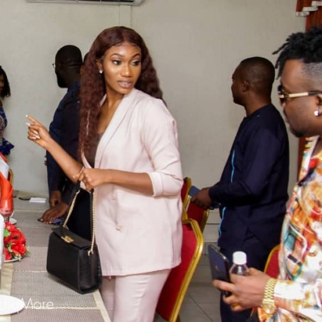 Wendy Shay with manager Bullet