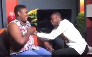 VIDEO: Kofi Adomah fondles Kumawood actress live on TV