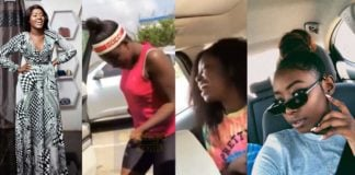 Fella Makafui takes her sisters out in Medikal's Range Rover