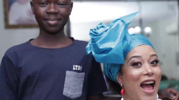 The boy who is a headscarf stylist to Nigeria's stars