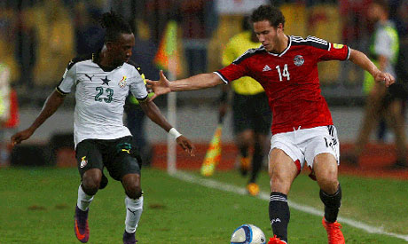 Ghana held 1-1 by Egypt in final World Cup qualifier