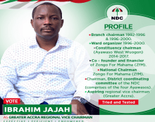 Vice Chair Aspirant Proposes New Office Complex For G/A NDC