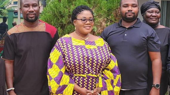 Krowor NDC PC Pays Her Last Respect to late BOST MD, As NPP MP Runs for cover