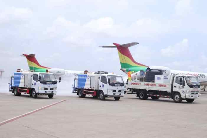 Ahead of reopening airports: Aviation Ministry Partners Zoomlion To Disinfect Kotoka