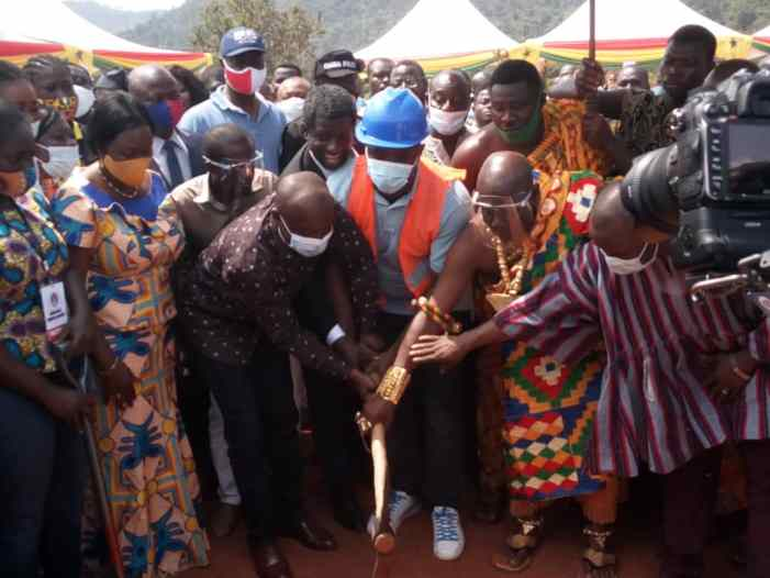 E/R!! Sports Minister Cuts Sod for Redevelopment of Famous Nkawkaw Sports Stadium