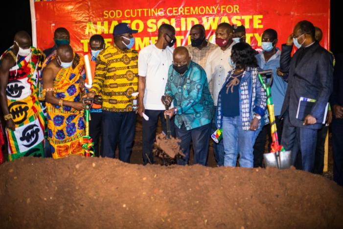 Zoomlion Project: President cuts another sod for Solid waste treatment Plant in Ahafo Region