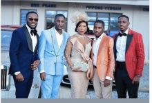 Social Media Users React As Despite's Wife And His 4 Sons Step Out In Glam