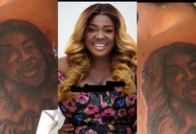 A Diehard Fan Of Tracey Boakye Gets Ugly Tattoo Of Tracey And Her Children At The Back – Video