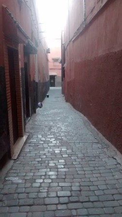 Street leading to the Riad