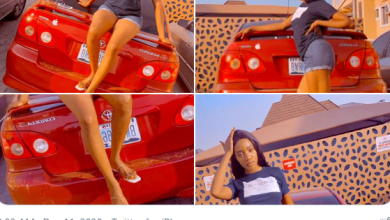Nigerian Lady Vivian Rora Flaunts Car Don Jazzy Purchased For Her