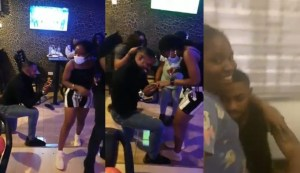 A young man cries after his girlfriend said; yes to his proposal