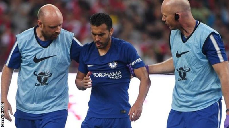 Chelsea forward Pedro had multiple fractures