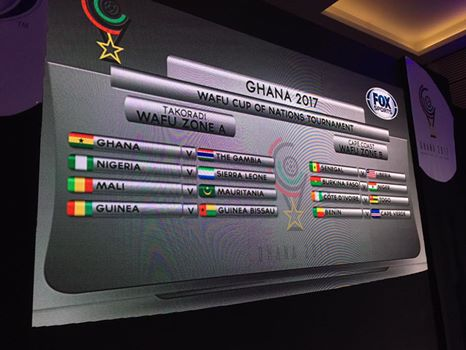 Ghana's opponents for 2017 Wafu championship unveiled