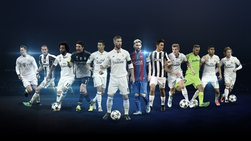 UEFA Champions League positional awards shortlist