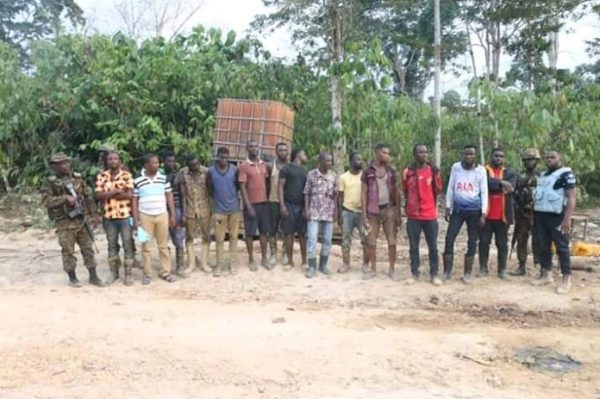 14 suspects arrested over illegal mining