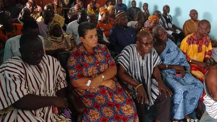 Awutu Senya West NDC introduces Parliamentary Candidate, Gizella Tetteh-Agbotui to Awutu Traditional Council